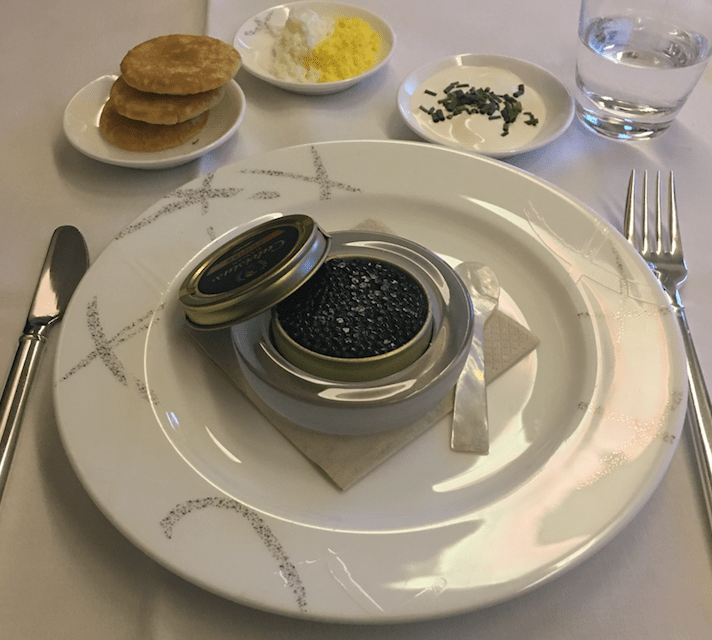 I forgot which serving of caviar this was
