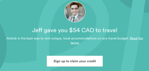 Airbnb Referral Credit $54