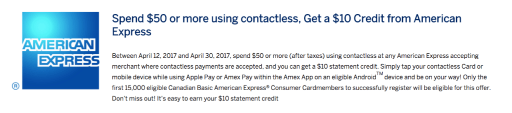 AMEX $10 Statement Credit