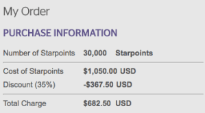 Starwood Preferred Guest: 30% Discount