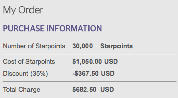 Starwood Preferred Guest: 35% Discount
