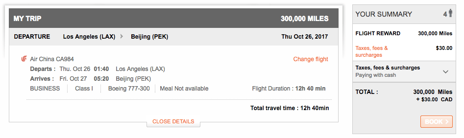 Air China Now Bookable with Aeroplan