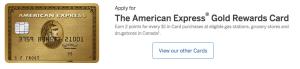 American Express Gold Rewards Card