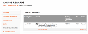 Aeroplan Manage Rewards