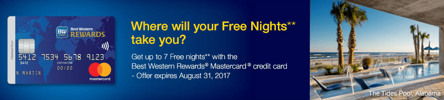 MBNA Best Western MasterCard - 60,000 Points