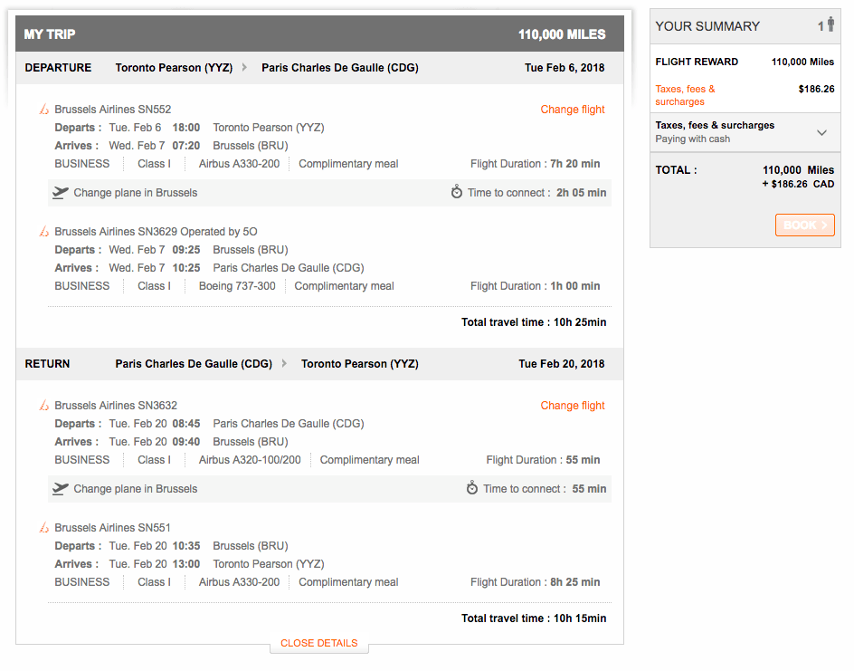 Redeem Aeroplan Flights - Taxes and Fees