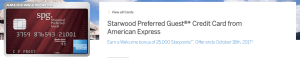 SPG AMEX - Increased 25,000 Point Welcome Bonus!