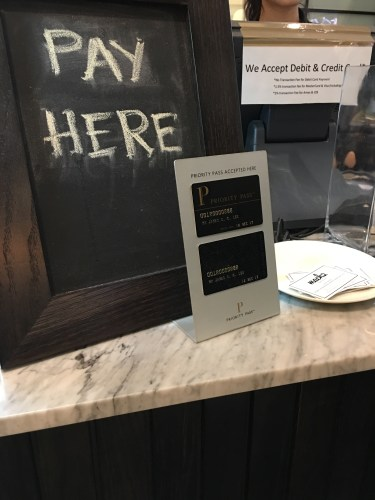 Priority Pass - Restaurants