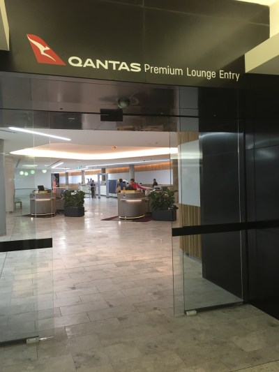 Brisbane Qantas Lounge Entrance