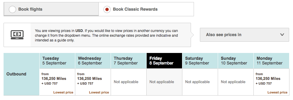 Book Emirates with JAL - EK Award Search