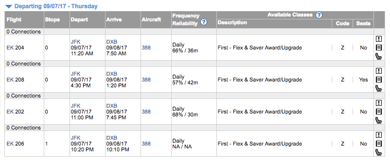 Book Emirates with JAL Miles - Expertflyer