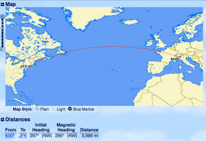 Booking Emirates with JAL - MXP to JFK