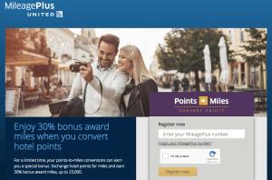 United Hotel Transfer Bonus