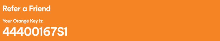 Inserting Orange Key