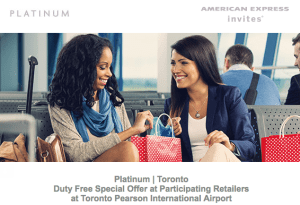 American Express Duty Free Offer
