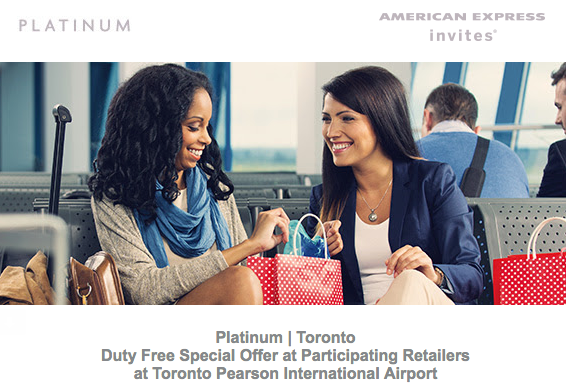American Express Duty Free Offer - Platinum Card