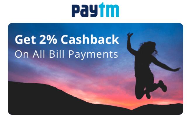PayTM Cashback 2% Offer