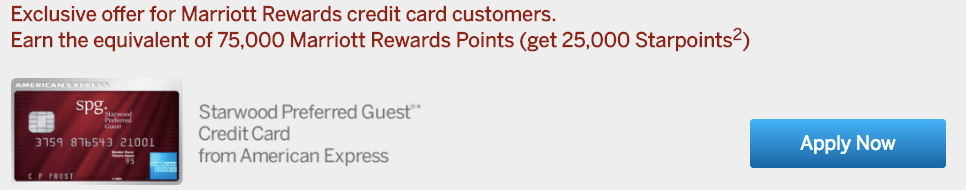 Starwood Preferred Guest Credit Card - Exclusive Offer
