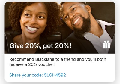 Blacklane - 20% off your First Ride