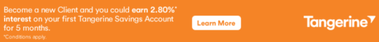 Tangerine High Interest Savings Account - Targeted Offer