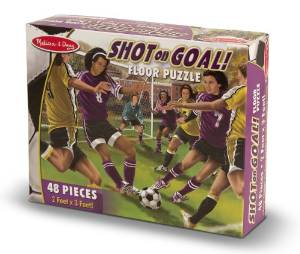 Shot on Goal! Soccer Floor Puzzle - 48 Pieces