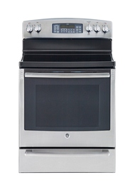 "GE 7.2 cu. Ft. 30"" Free Standing Electric Self-Clean Convection Range"