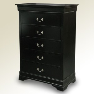 Avenza 5 drawer chest - Black