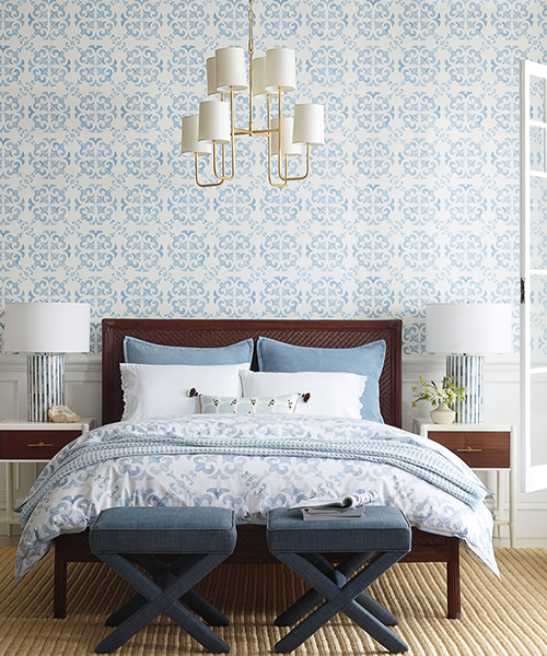 Blue Tilework Duvet Cover Vintage Tilework Bedding