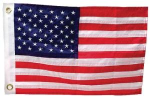 US FLAG SEWN-12X18