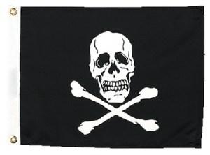 JOLLY ROGER FLAG 12X18