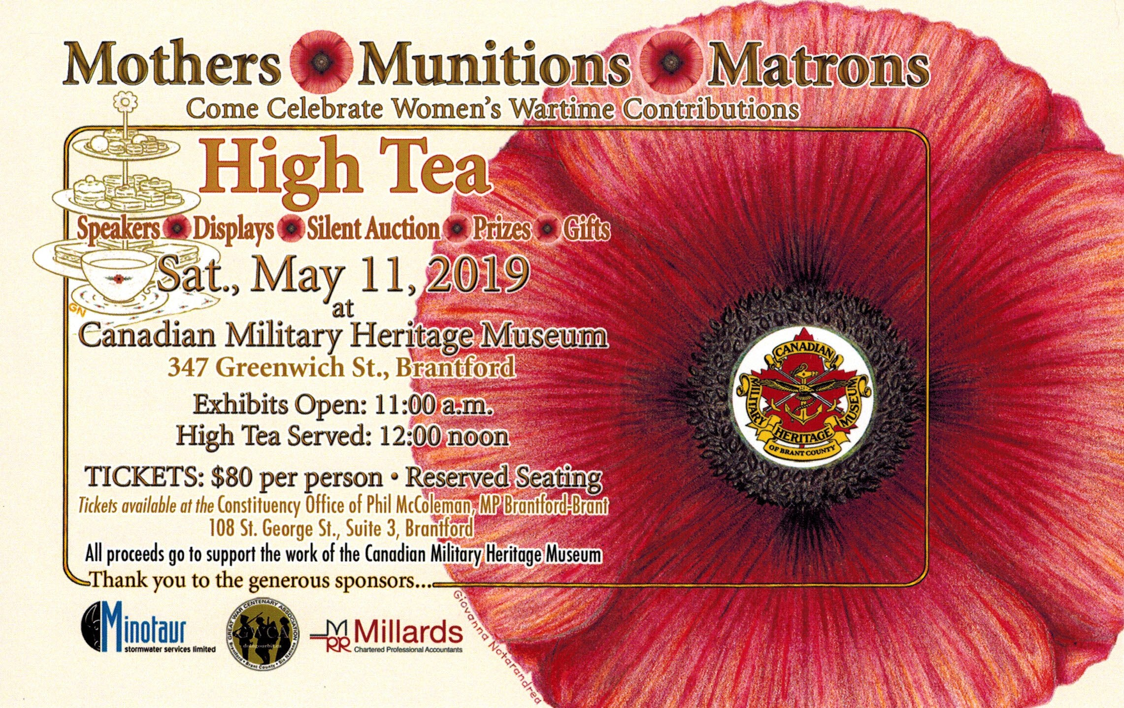 High Tea in Celebration of Women's Wartime Contributions – May 11, 2019