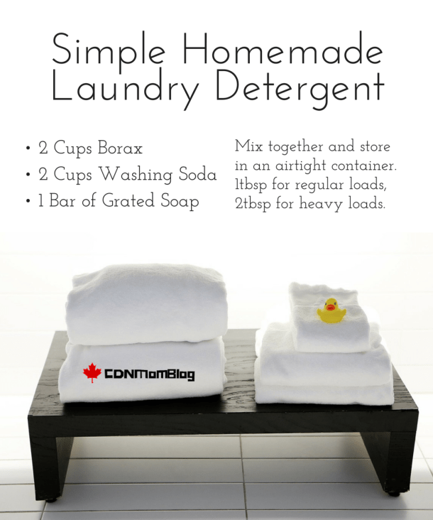 Simple Homemade Laundry Detergent