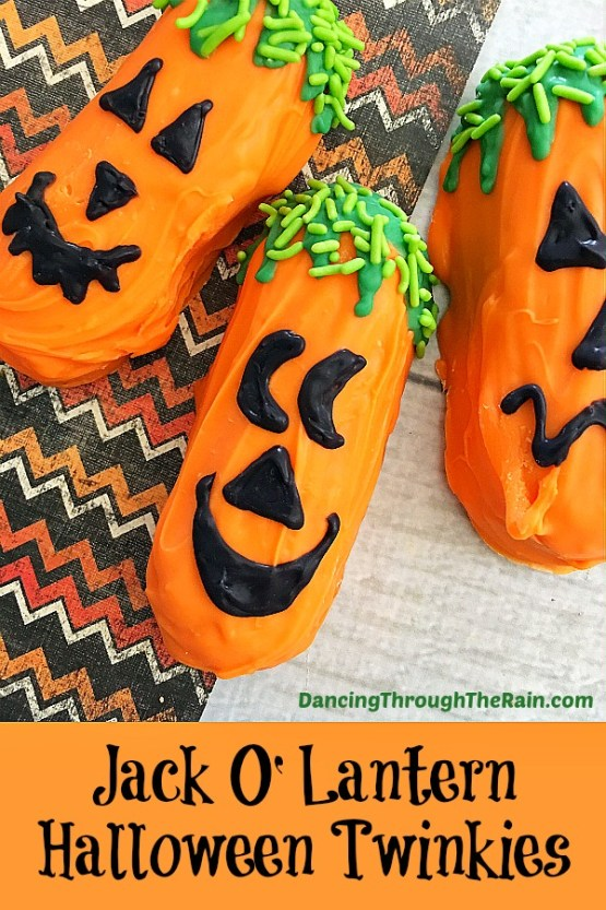 Halloween Jack-O-Lantern Twinkies from 30 Halloween Food & Treats Kids Will LOVE