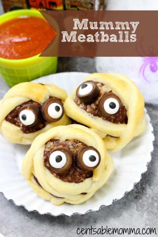 Mummy Meatballs from 30 Halloween Food & Treats Kids Will LOVE