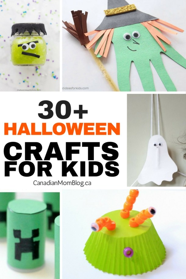 Over 30 Halloween Crafts for Kids