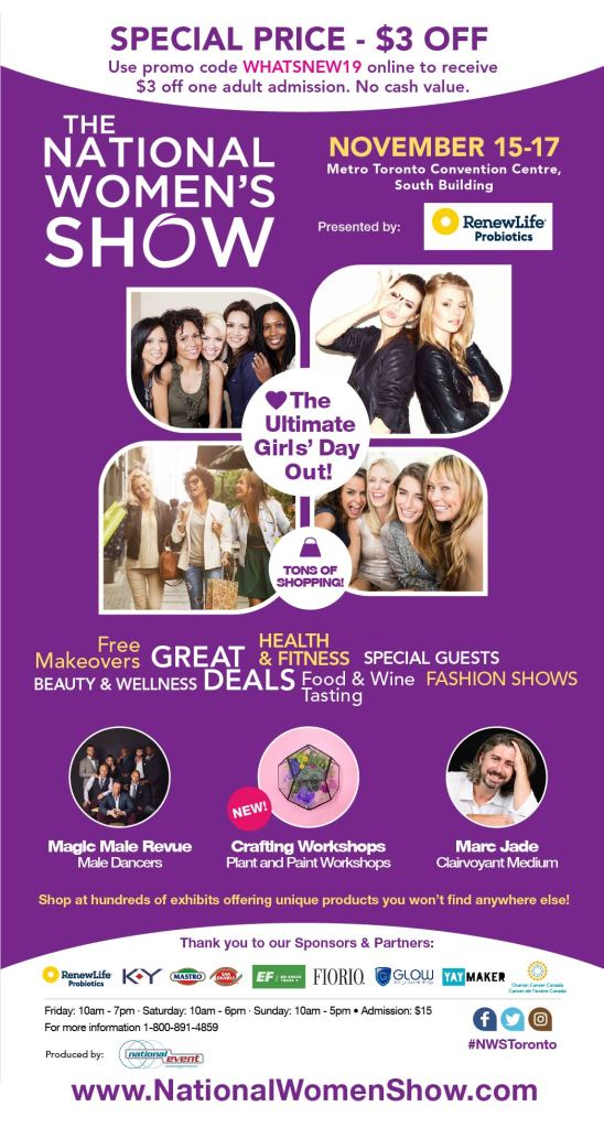 The National Women's Show Promo Code Coupon Fall 2019
