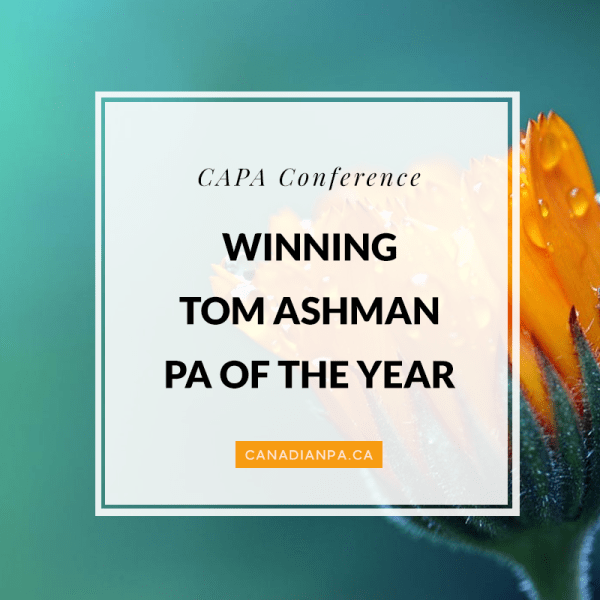 Tom Ashman Physician Assistant of the Year
