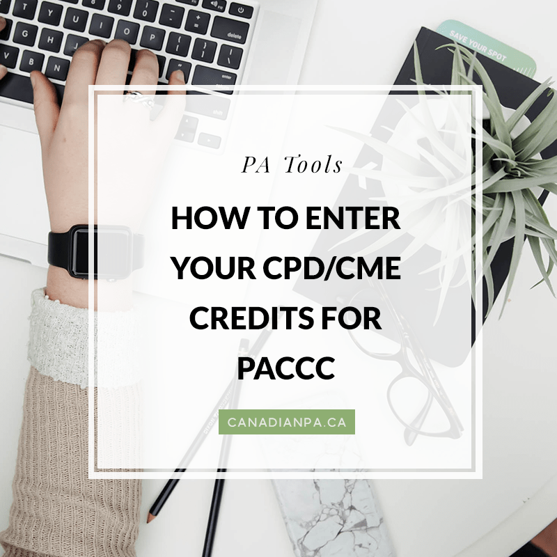 How To Enter Your Cpdcme Credits Canadian Pa