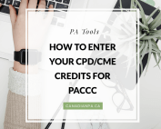 How Physician Assistants enter their CPD/CME Credits for PACCC