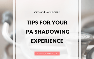 Tips for your Physician Assistant Shadowing Experience
