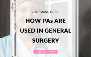 Canadian Physician Assistants in General Surgery Dee Naidu