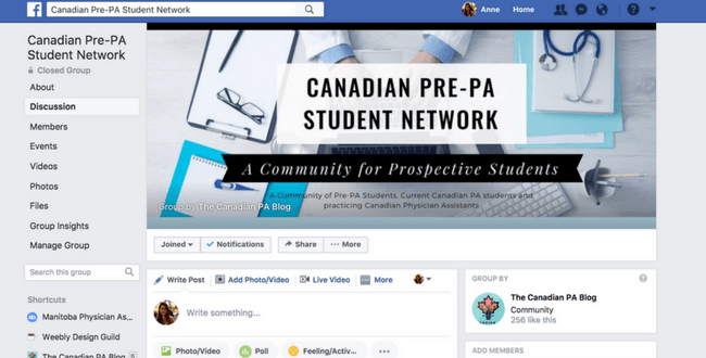 Canadian Pre-PA Facebook Group (1)