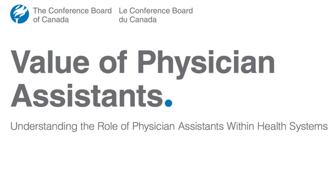 Conference Board of Canada Study Value of Physician Asisstants
