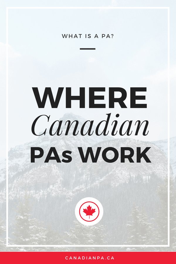 Where Physician Assistants work in Canada