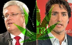 Trudeau and Harper United in smoke