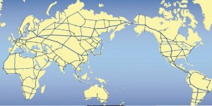 World Landbridge linking the continents of Eurasia with the Americas through the Bering Strait