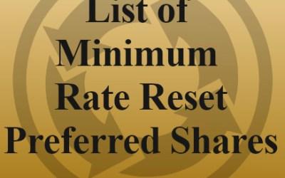 List of Minimum Rate Reset Preferred Shares