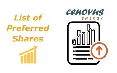 List of Cenovus Energy Preferred Shares