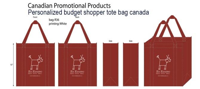 Personalized budget shopper tote bag canada