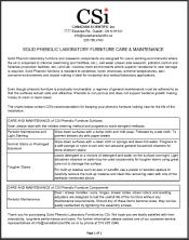 CSi Phenolic CW Care & Maintenance